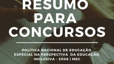Foto de RESUMO: Política Nacional de Educação Especial na Perspectiva da Educação Inclusiva