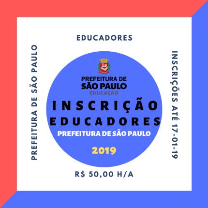 inscrição educadores sp 2019