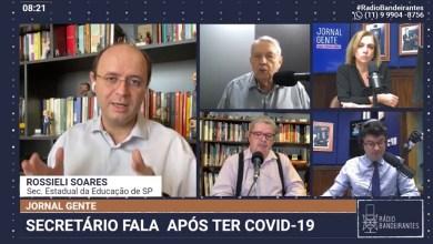"""Photo of Confira a entrevista de Rossieli Soares na Rádio Bandeirantes: """"Não há data para retorno""""."""