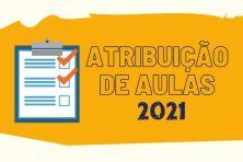 atribuição de aulas 2021