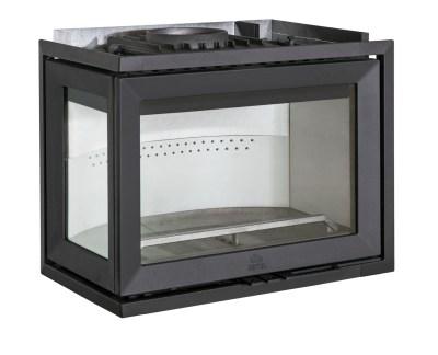 """Чугунная каминная топка Jotul I 520 FL с фронтальным и левым боковым стеклом с функцией чистое горение """"Clean Burn"""", обеспечивает мощность при среднем уровне горения 7 кВт, рассчитана на отопления помещений до 140 м 2 ."""