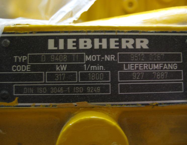 Liebherr D9408 1160 Rebuilt Engine V8 544 Hp