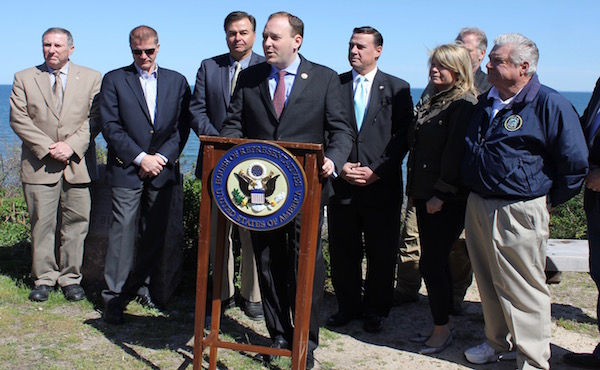 Congressman Lee Zeldin announced Sunday that he expects his Plum Island bill to leave committee April 28.