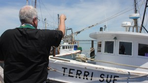 Rev. Philip Hubbard of St. Mary's Episcopal Church blessed the Terri Sue