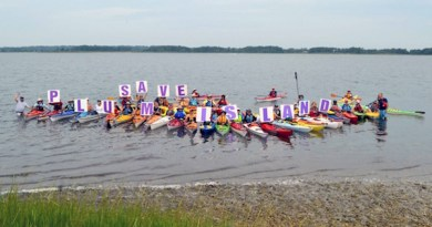 At last year's Paddle for Plum Island