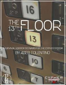 Cover of the 13th Floor shows an elevarot panel of buttons with only the the 13 button illuminated