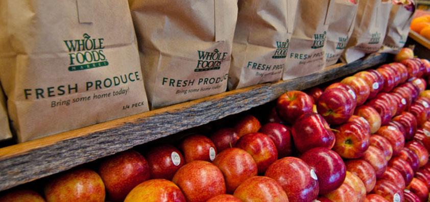 apple display whole foods