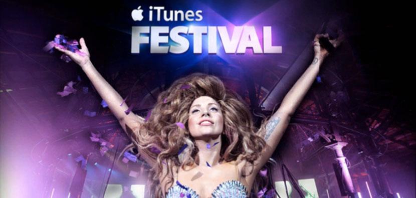 lady gaga at Apple iTunes Festival