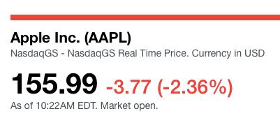 Apple down