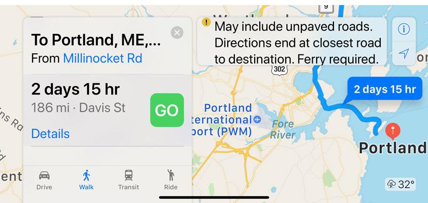Apple Maps turns Portland, Maine, into a small island