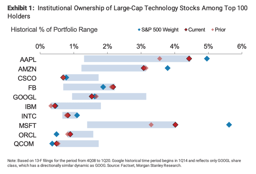 Apple institutions morgan stanley