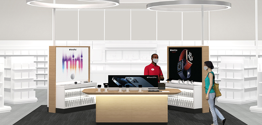 target doubles down apple