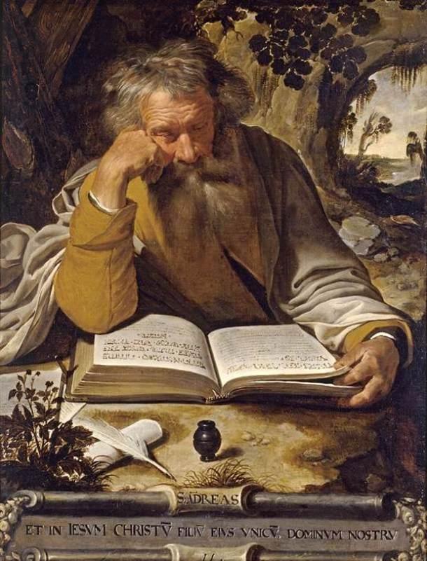 Sf. Andrei (ulei pe pânză, Artus Wolffort, sec. XVII).