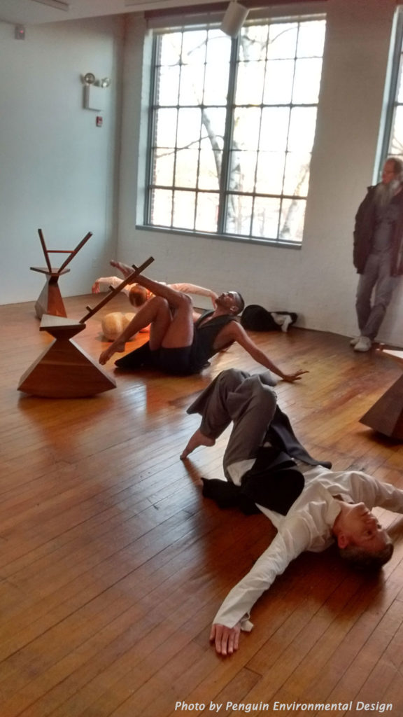 Dancers with Noguchi's Rocking Chair