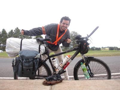 Viagem de bicicleta - Parada pro almoço