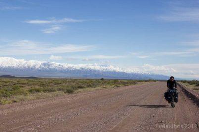 André e os Andes - Ruta 40 ao sul de Pareditas