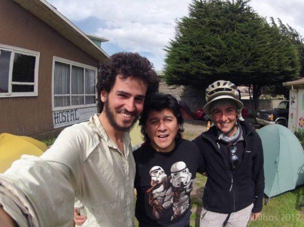 Gracias Eduardo, nos recebeu muito bem no Camping e Hostel Independencia, em Punta Arenas