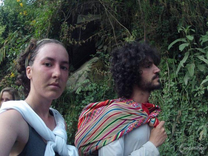 Esperando na fila pra entrar em Machu Picchu.