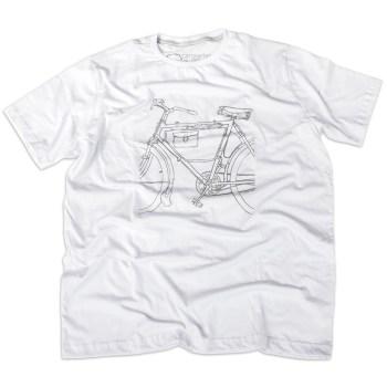 Camiseta Bicicleta Antiga Masculina Branca