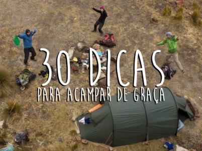 30 dicas para acampar de graça