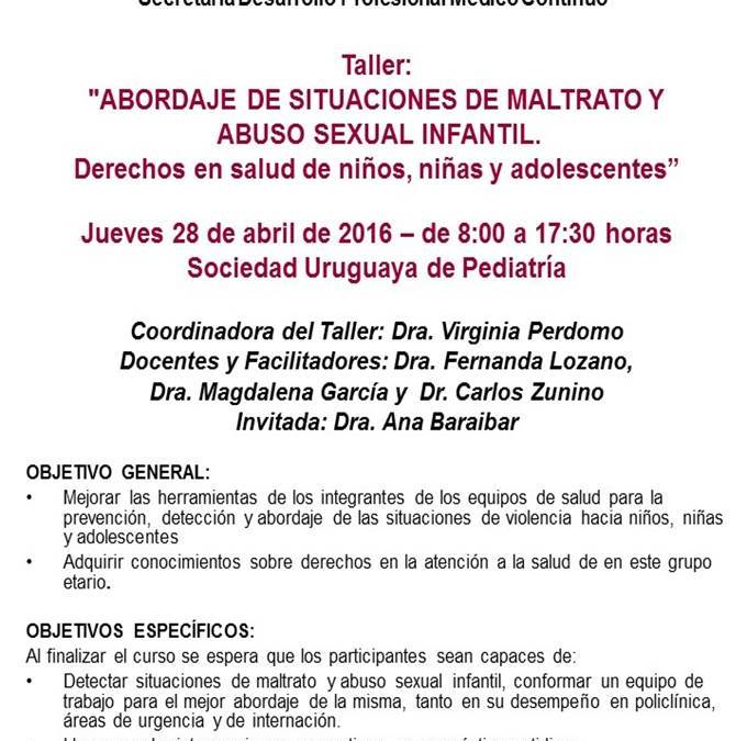 JORNADA DE EMC ABORDAJE DE SITUACIONES DE MALTRATO Y ABUSO SEXUAL INFANTIL