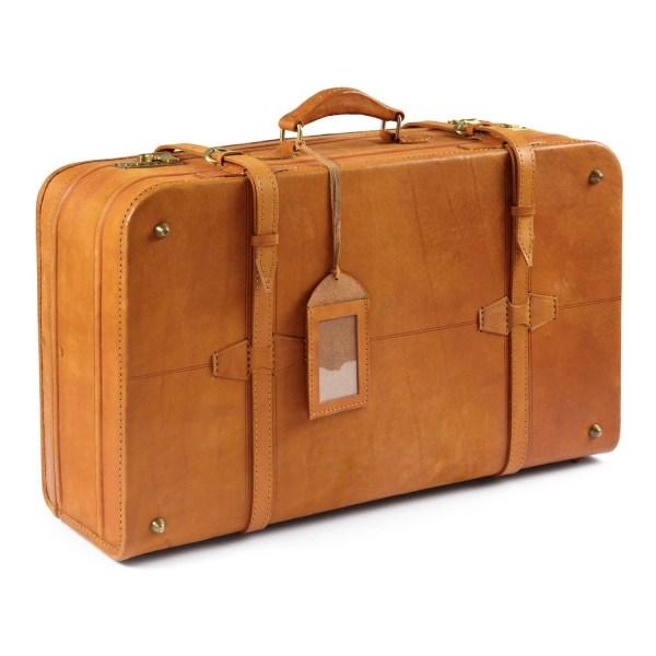 Ashwood Leather Large Vintage Suitcase - Pediwear Luggage