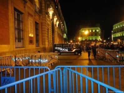Donde esta la policia en Sol Madrid