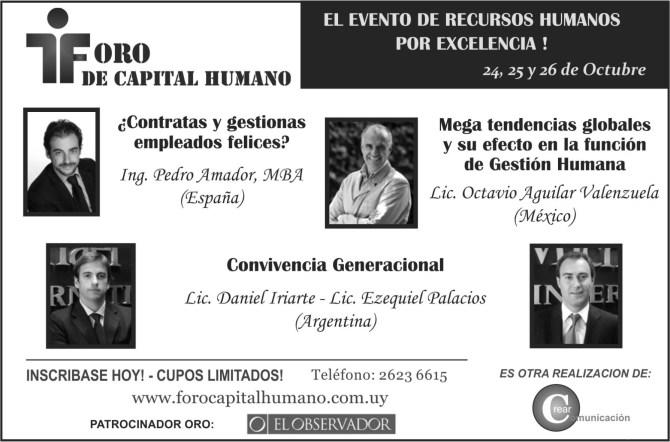 Foro de Capital Humano en Montevideo - Pedro Amador - Experto en felicidad