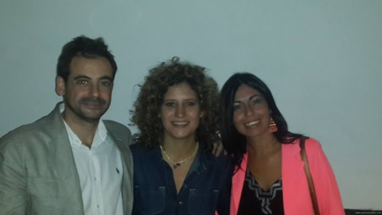 Con Ana Prada en I Dove Me Uruguay