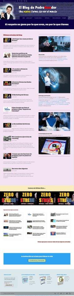 Diseño previo Home Page Pedro Amador
