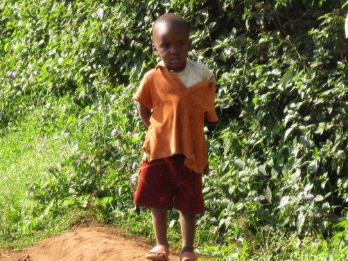 Una foto de un niño de Tanzania