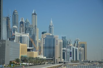 Dubai Marina view from Metro 1