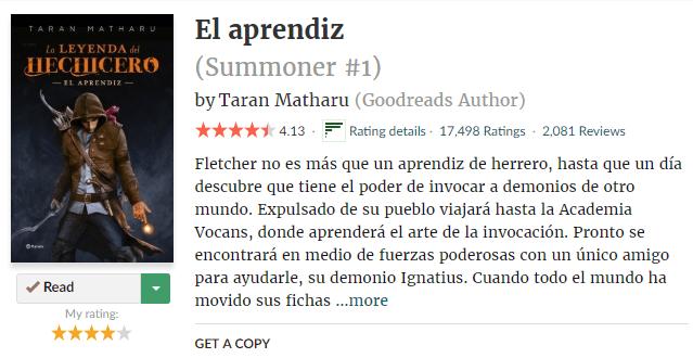 La leyenda del hechicero en Goodreads
