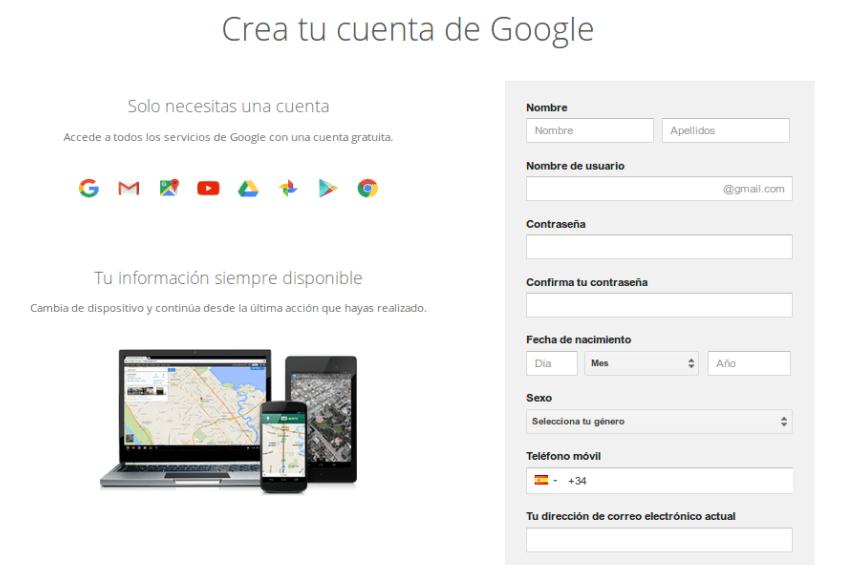 registro gmail