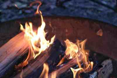 Flaming Campfire at Ohiopyle State Park