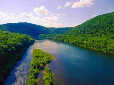 Susquehanna River north of Lock Haven, PA