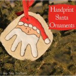 Handprint Santa Ornament Tutorial