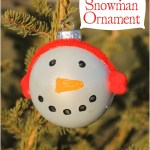 Easy Snowman Ornament Tutorial