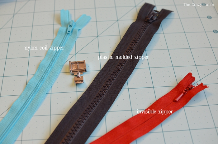 Types of Zippers for sewing