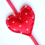 How to Make a Vertical Fabric Heart Garland