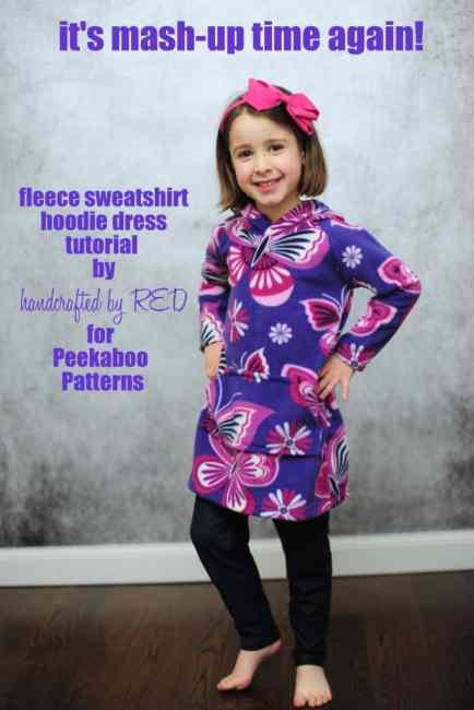 DIY Fleece Hoodie Dress