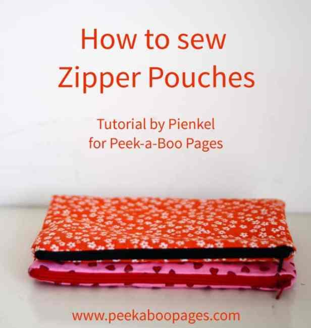 Zipper Pouch Tutorial Free Pattern