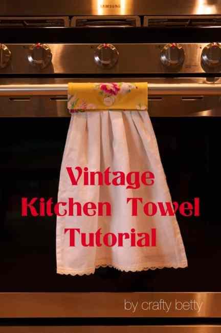 DIY Vintage Kitchen Towels