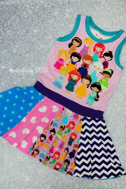 princess panel skirt