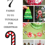 7 Fabric Yo-yo Crafts for Christmas