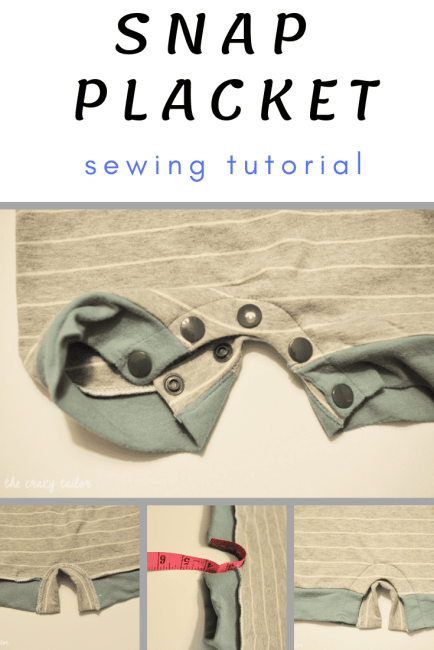 Sewing a Snap Placket