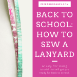 Back to School: How to Sew a Lanyard