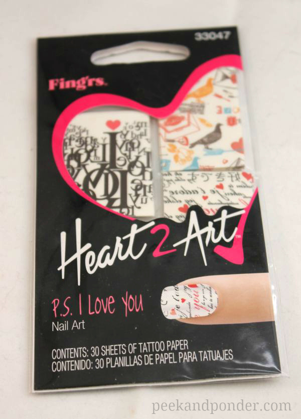 Fing'rs Heart 2 Art Nail Tattoos
