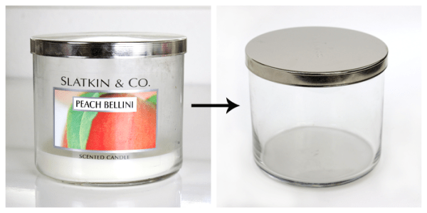 from candle jar to storage container