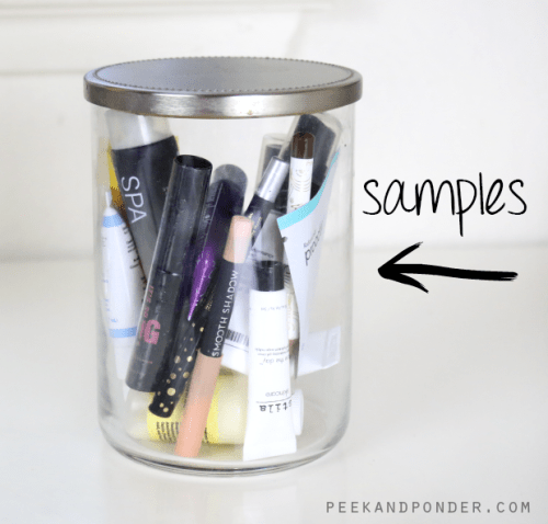 samples in a candle jar